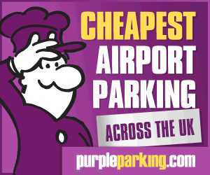Purple Parking Banner